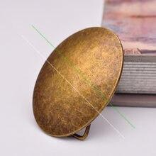 Hebilla de Metal ovalado para cinturón de vaqueros, hebilla de repuesto para cinturón, 40mm