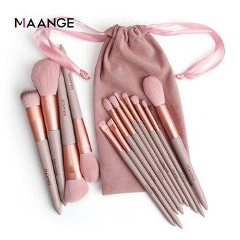 MAANGE Pro 4/13Pcs Makeup Brushes Set  Face Eye Shadow Foundation Powder Eyeliner Eyelash Lip Make Up Brush Beauty Tool with Bag