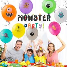 16pcs Monster Birthday Party Balloons Baby Shower Boys Little First Decorations Photo Backdrop