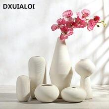Criativo cerâmica vaso branco ornamentos moderno e minimalista sala de estar decoração casa acessórios arranjo flor presente