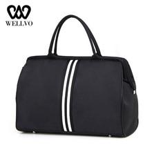 Women Overnight Weekend Traveling Bag Ladies Stripe Handbag Big Travel