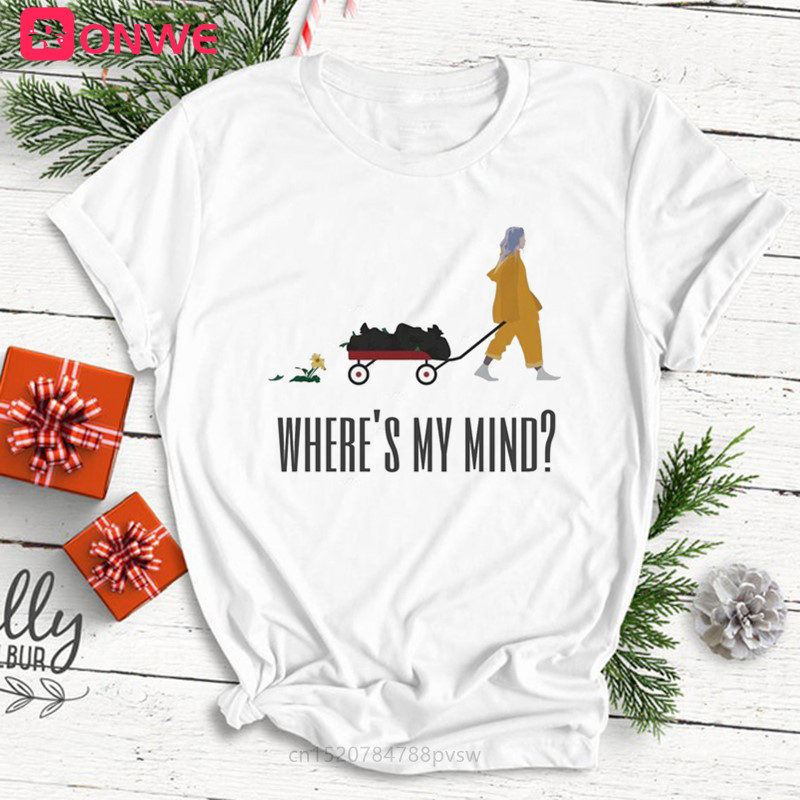 Women's Billie Eilish Ulzzang T Shirt Female Hip Hop Tshirt Girl Funny Harajuku Summer Casual Where Is My Mind T-shirt