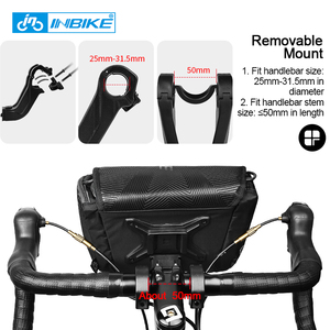 Image 5 - INBIKE Waterproof Bike Bag Large Capacity Handlebar Front Tube Bag Bicycle Pocket Shoulder Backpack Cycling Bike Accessories