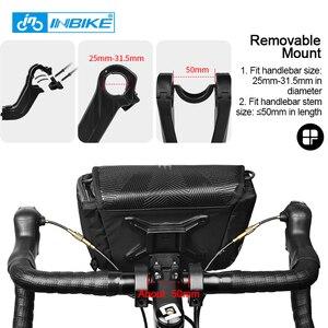 Image 5 - Inbike防水バイクバッグ大容量ハンドルバーフロントチューブバッグ自転車ポケットショルダーバックパックサイクリング自転車アクセサリー