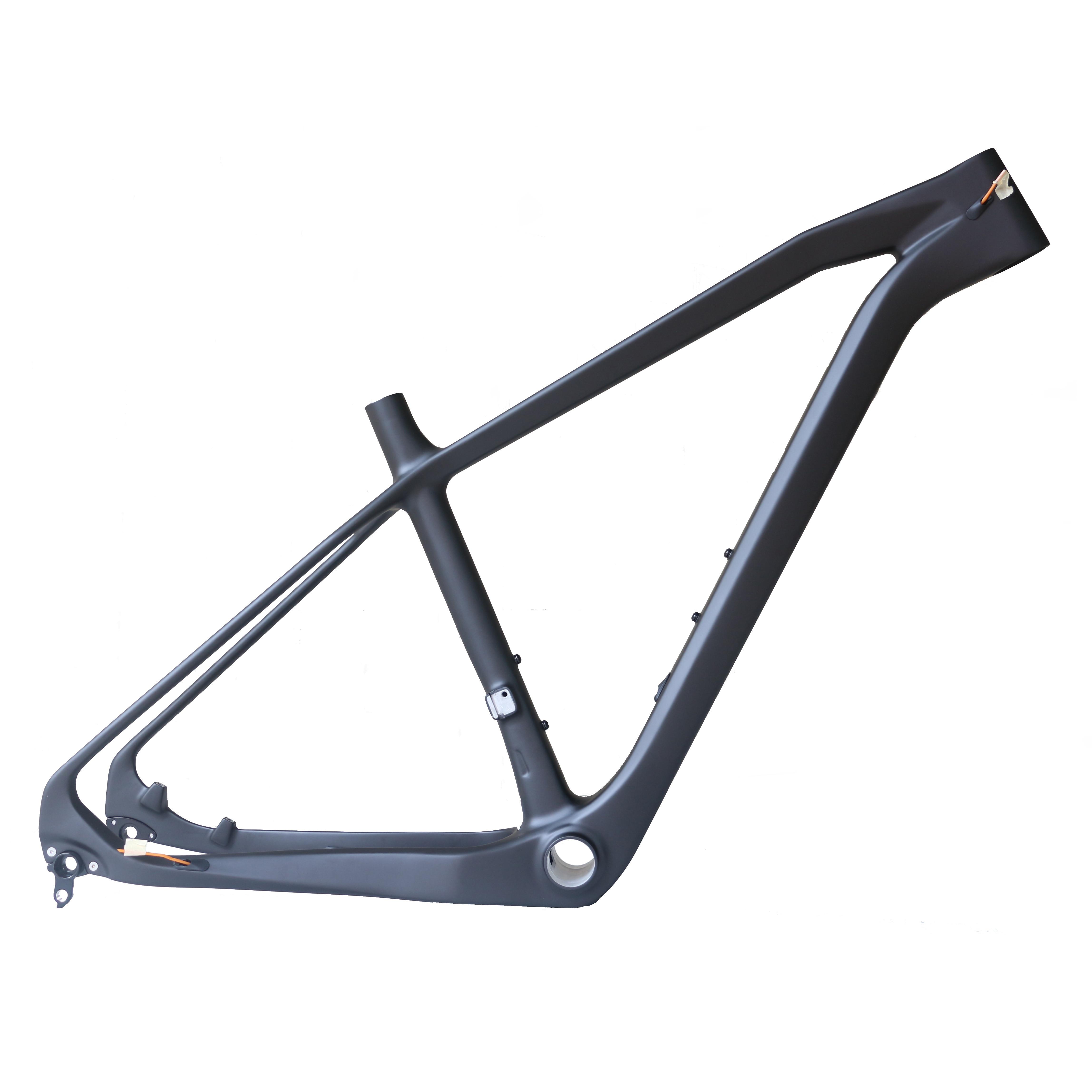 Toray Carbon Fiberi T700 27.5er*2.35  Hard Tail MTB Bike Frame  BB92with 650B Internal Cable Mountain Bike Frame For FM406