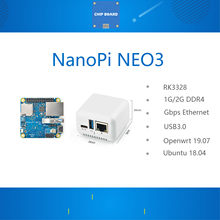 Nanopi neo3 mini placa de desenvolvimento rk3328 gigabit ethernet porto 1gb/2gb memória openwrt/lede dropship