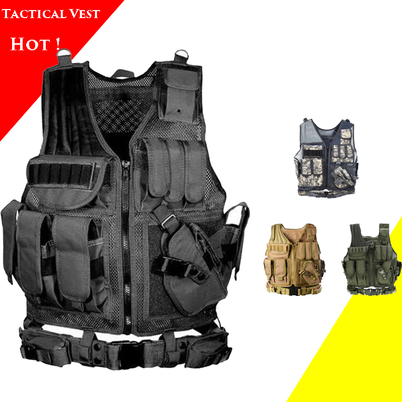 Army Tactical Body Armor Men's Paintball Airsoft Sport Vests Outdoor Hunting War Game Military Equipment Tactical Vest