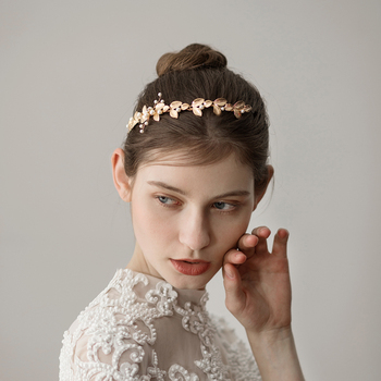 O340 Alloy leaves wedding bridal hair band hairpiece decorative headpiece princess modern middle east arabic hairband недорого