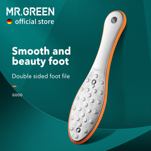 MR.GREEN Foot Rasps Foot File Callus Remover Professional Foot Care Tool Stainless Steel Double Sides Dead skin Pedicure Rasp