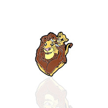 Fashion Anime Lion King Keren Logam Enamel Bros dan Pin Koleksi Kerah Pin Lencana Perhiasan(China)