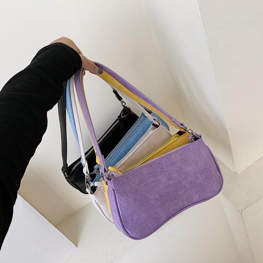 Vintage dámské kabelky se vzorem krokodýla, kabelky z rozdělené - Kabelky