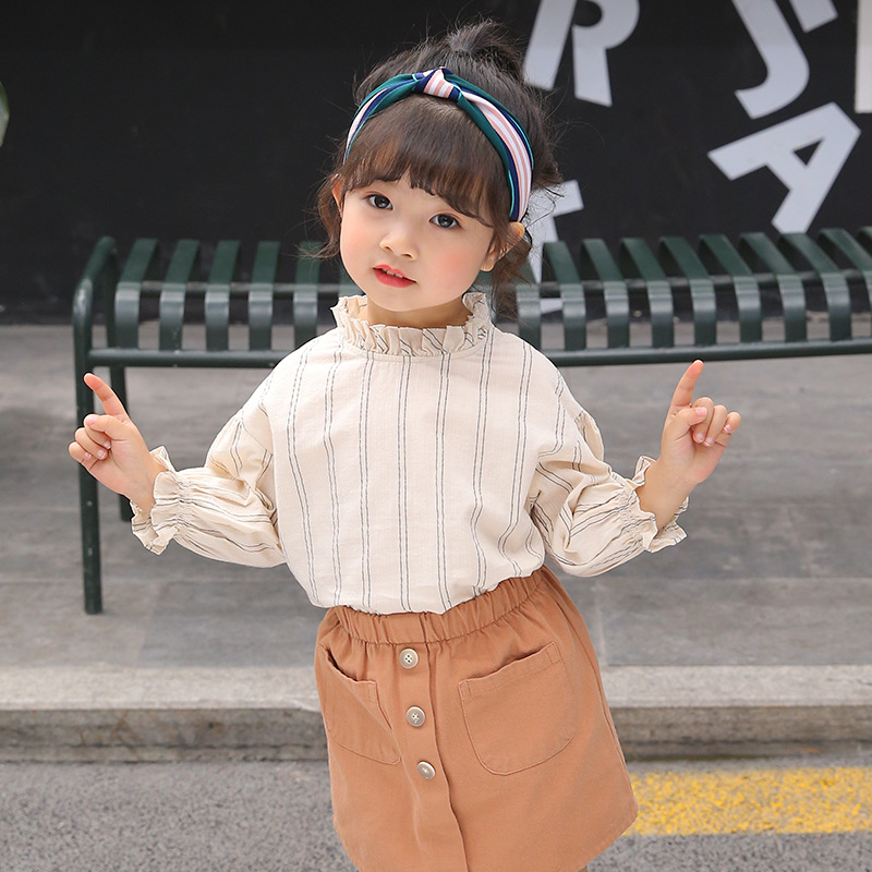 Girls Bottoming Shirts 2019 New Products Korean-style Children Long Sleeve Cute Princess-Style Fashion