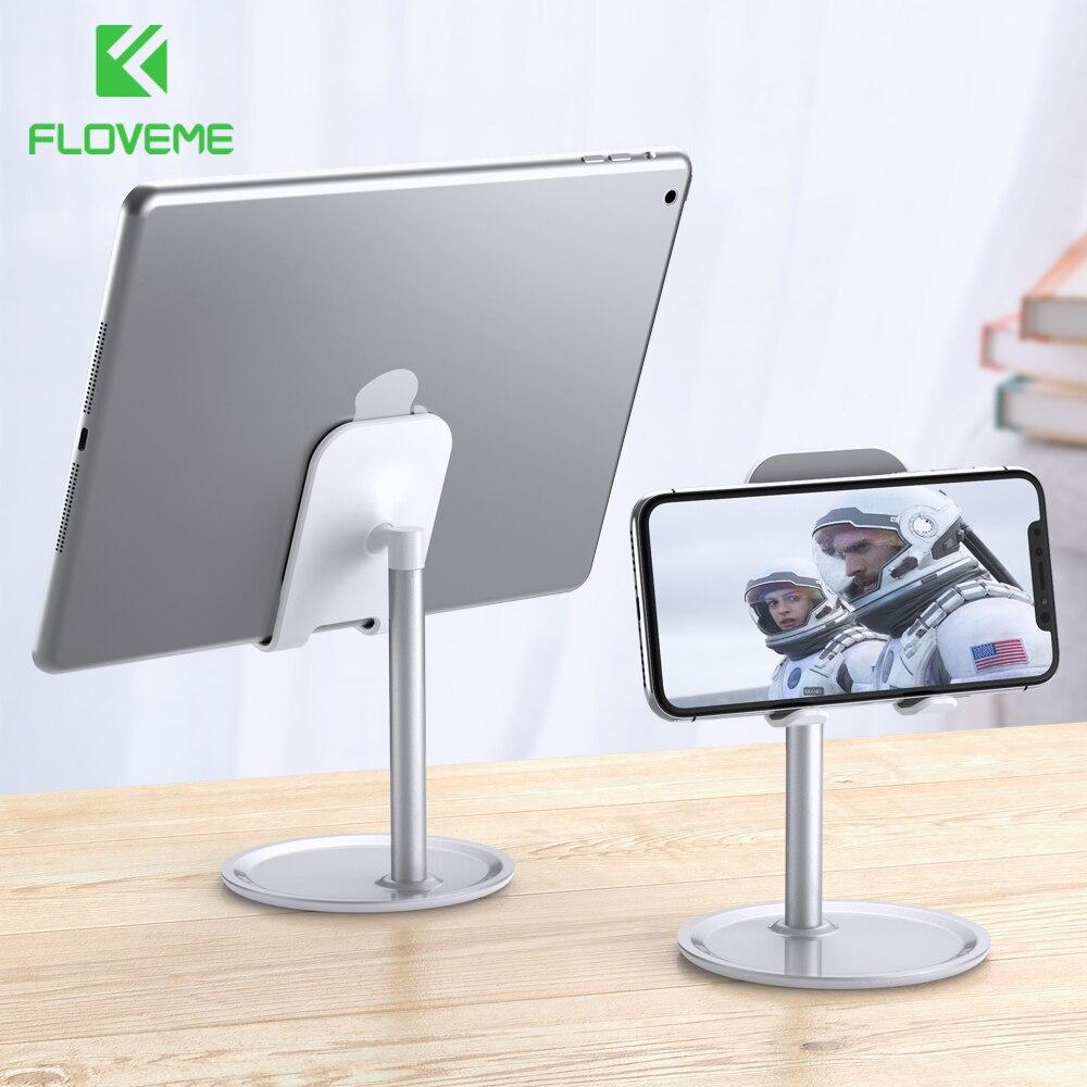 FLOVEME Universal Tablet Phone Holder Desk For iPhone Desktop Stand Cell Table Mobile Mount