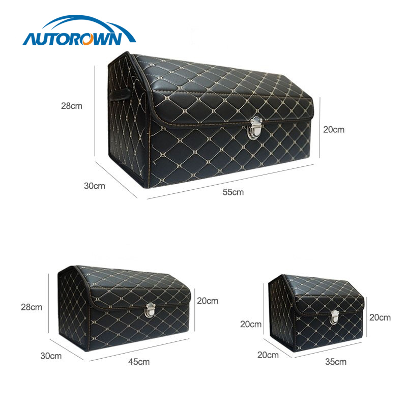 Trunk Organizer Storage-Bag Auto-Interior-Accessories Multipurpose Collapsible AUTOROWN title=