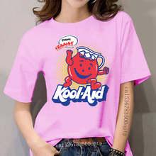 Kool Aid Vrouwen, Kruik, Oh Yeah! -G200 Ultra Katoenen T-shirt-Navy Groothandel Tee Shirt