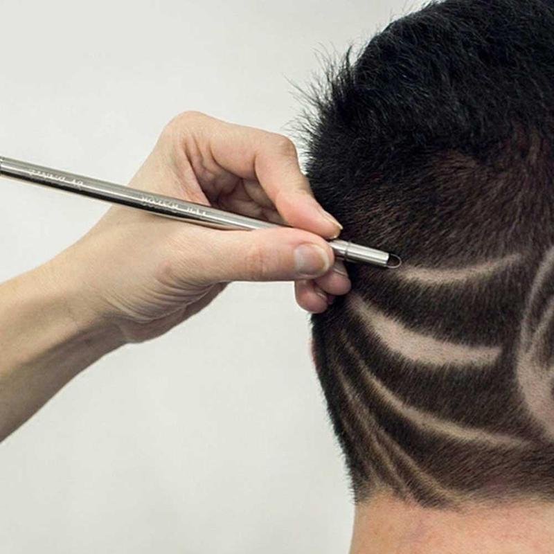 Fashion Hair Carving Pen Magic Oil Head Notch Man Hair Refined Steel Razor Pen Barber Razor Eyebrow Shaving Shave