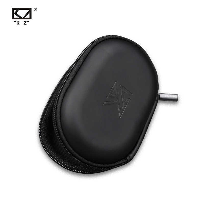 KZ owalne logo torba do przechowywania słuchawki PU Zipper schowek czarny przenośny schowek do przechowywania nadaje się do oryginalnych słuchawek AS10