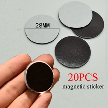 20 PCS 23mm/28mm Round Magnetic Sticker Fit Glass Cabochon 25mm / 30mm Fridge Magnet DIY Refrigerator Magnet Blackboard Sticker