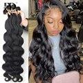 30 дюймов Необработанные индийские виргинские человеческие волосы волнистые пряди, натуральные оптовые продажи, бразильские 3 4 пучка по сде...