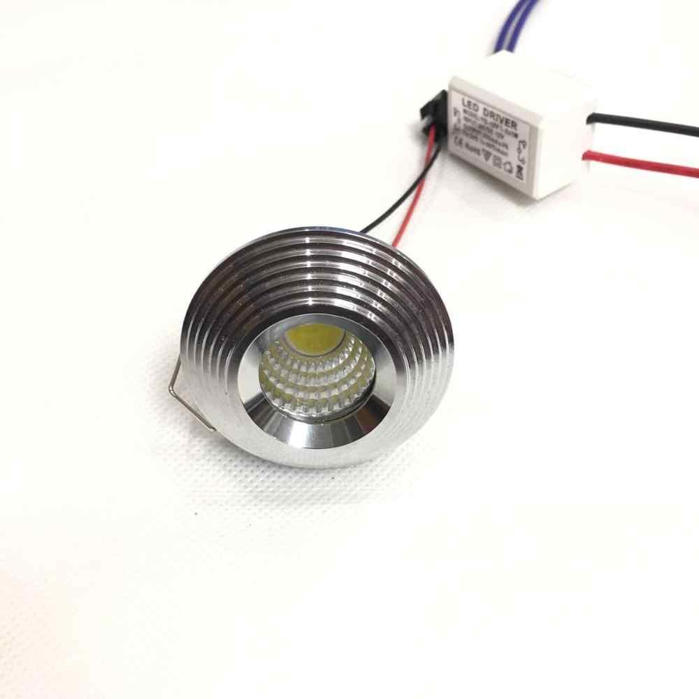 10 единиц 3 W светодиодный мини Einbauleuchte круглым verstellbarer черно белую пятно Deckenlampe 220 V