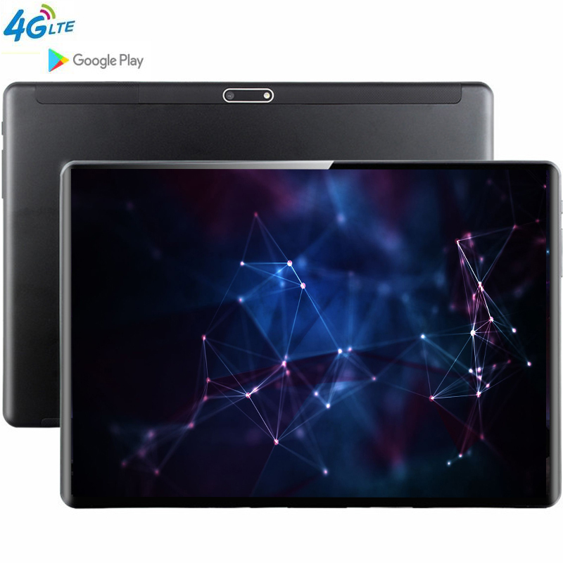 4G LTE MT6753 10.1' Tablet Android 9.0 8 Core 6GB + 128GB ROM Dual Camera 5MP SIM Tablet PC Wifi Mirco Usb GPS Bluetooth Phone