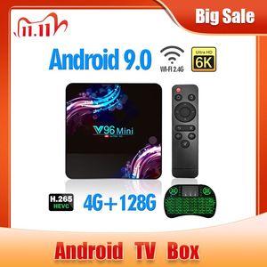 Image 1 - 2020 جديد واي فاي 2.4/5G مربع التلفزيون الذكية أندرويد 9.0 4GB 32GB 64GB الترا HD 6K H.265 يوتيوب مشغل الوسائط صندوق التلفزيون أندرويد TV فك التشفيرAllwinner H6 ، رباعي النواة ARM Cortex A53 ، حتى 1.5 جيجا هرتز