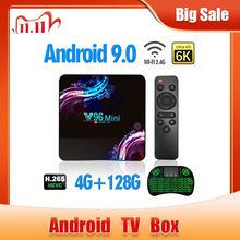 2020 New Wifi 2.4/5G Smart TV Box Android 9.0 4GB 32GB 64GB Ultra HD 6K H.265 Youtube Media Player TV BOX Android TV Set Top Box,Allwinner H6, Quad core ARM Cortex A53, supporto Bluetooth