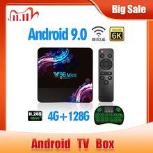 2020 Nieuwe Wifi 2.4/5G Smart Tv Box Android 9.0 4Gb 32Gb 64Gb Ultra Hd 6K H.265 Youtube Media Player Tv Box Android Tv Set Top Box,Allwinner H6, Quad core ARM Cortex A53, tot 1,5 GHz, ondersteunt bluetooth