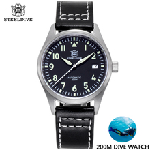 200M Waterproof Diver Mechanical Dive Watch For Men Stainless Sapphire Crystal B