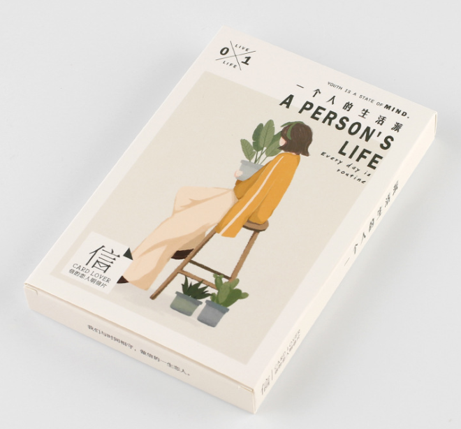 14.3cm*9.3cm One Life Paper Postcard(1pack=30pieces)
