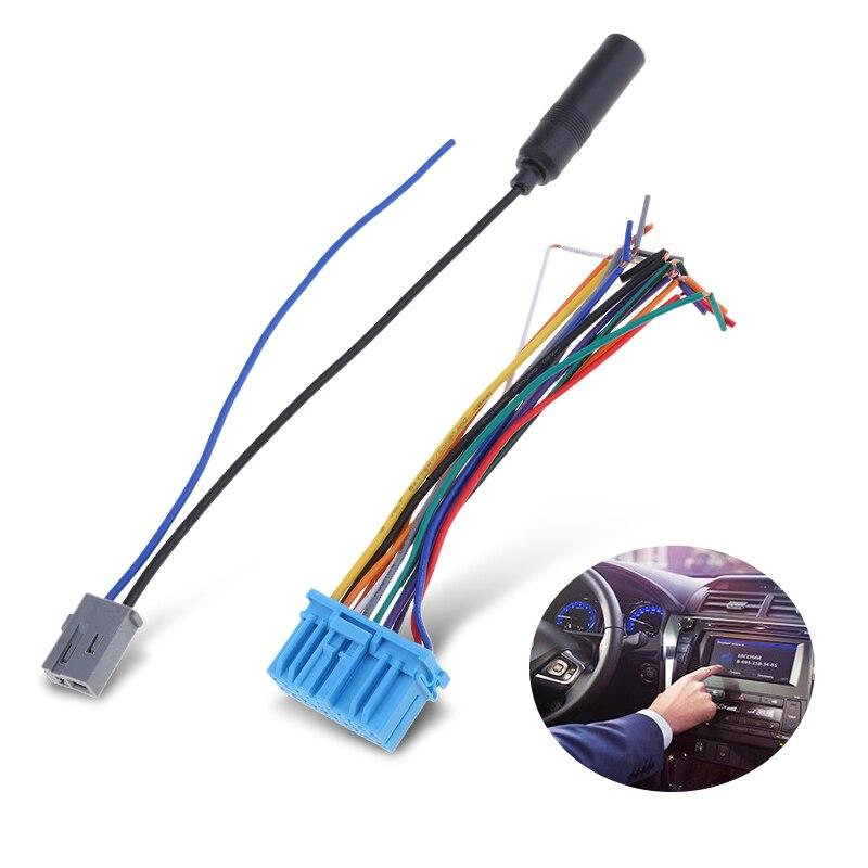 Audio Car Stereo Wiring Harness Plastic Radio Antenna cable autoradio antenna socket for Honda for Suzuki for Haima for Mazda(China)