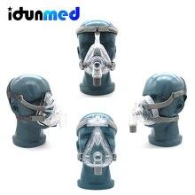 BMC CPAP Full Face Mask With Adjustable Headgear 3 Size Cushions For Medical Air Breathing Machine Sleep Apnea Anti Snoring