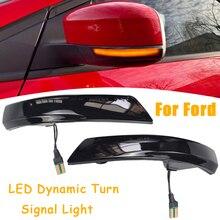 다이나믹 턴 시그널 LED 라이트 흐르는 물 깜박임 포드 포커스 2 MK2 포커스 3 MK3 3.5 Mondeo MK4 EU