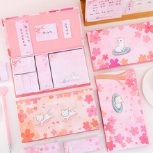 Bookmark School Sticker Memo-Pad 3-Style Office-Stationery Page Cat Novelty Pink Cute