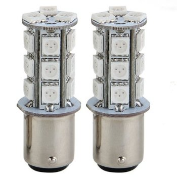 цена на 2x1157 SMD 5050 18 Red LED Flash Car Brake Tail Rear Signal Stop Light Lamp Bulb