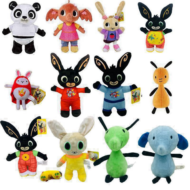Bing Bunny Rabbit Plush Toy Figures Panda Elephant Stuffed Animal Soft Doll Toys For Children Gifts