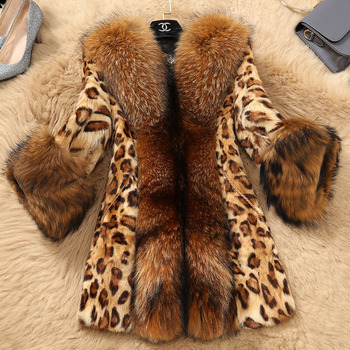 fashion girl fur coat jacket thick warm leopard overcoat for big girl female kids Winter faux fur coat clothes outerwear