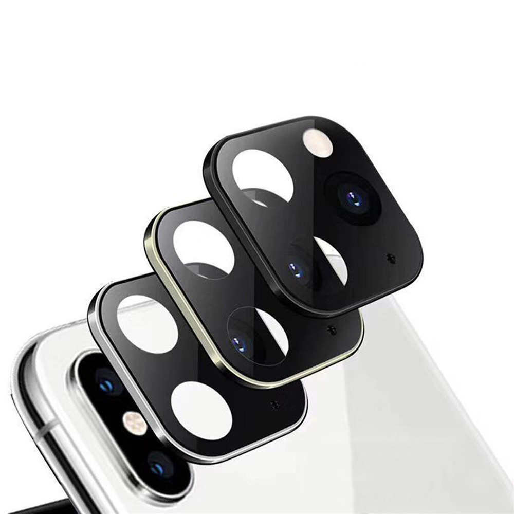 For IPhone X XS XS MAX Camera Lens Protective Ring Cover Seconds Change for IPhone11 Pro Camera Lens Cover Simulation Parts