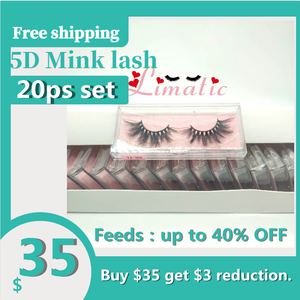 5D Mink eyelash 20 pairs 5D71
