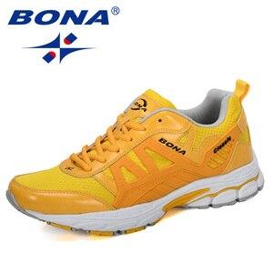 Image 4 - BONA 2019 Yeni Tasarımcı koşu ayakkabıları Erkekler Zapatillas Hombre Deportiva Yüksek erkek ayakkabı Eğitmen Sneakers Koşu yürüyüş ayakkabısı