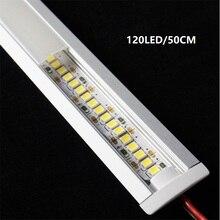 12VDC 50 см 20 дюймов Встроенный светодиодный светильник, диодный Невидимый встроенный профиль 2835 2 Вт 6 Вт 9 Вт Светодиодная лента, 7 мм тонкая жесткая линейная лента