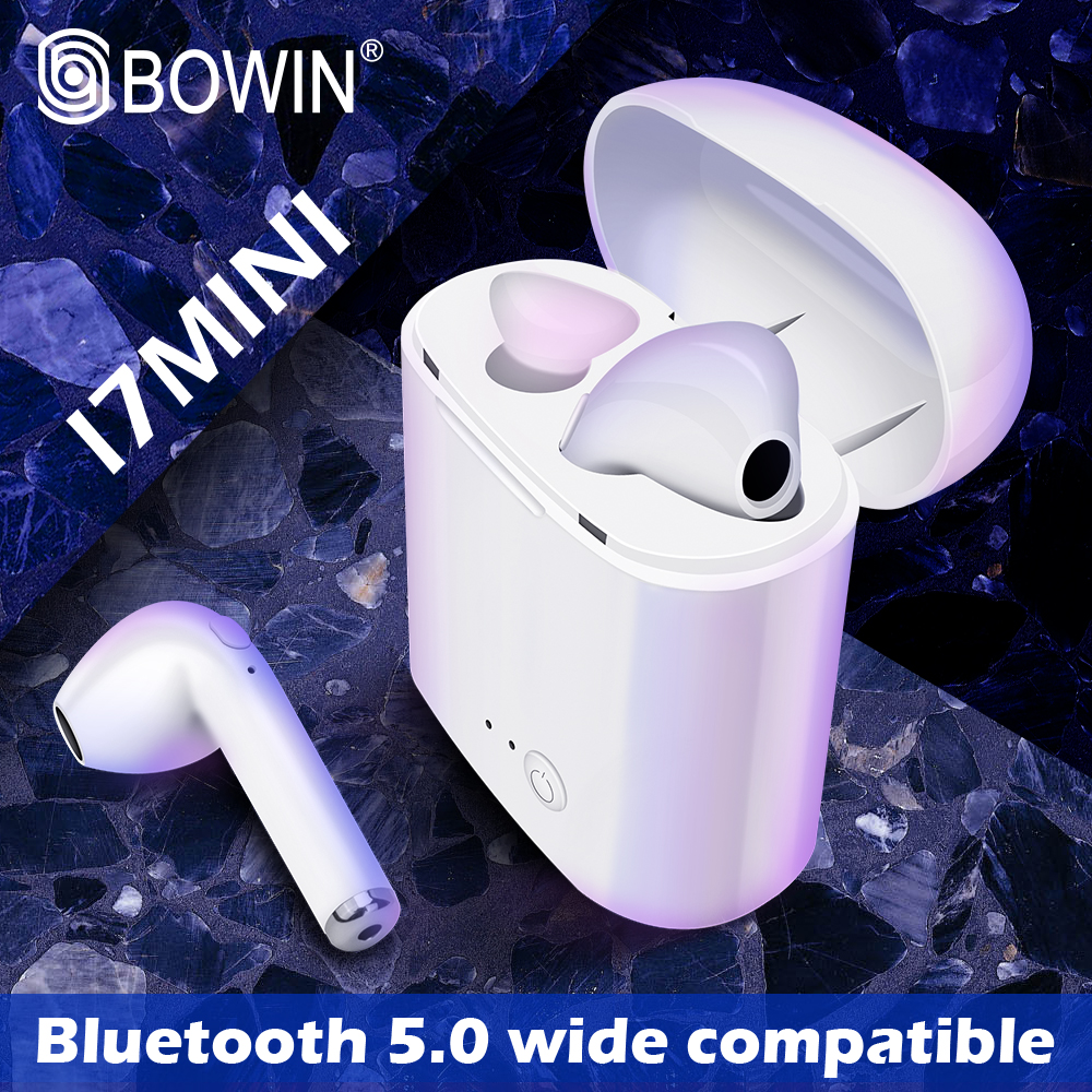 BOWIN i7 Mini TWS Bluetooth Wireless Stereo Kopfhörer Earbuds Mit Lade Box Sport Headsets für Alle Smartphone