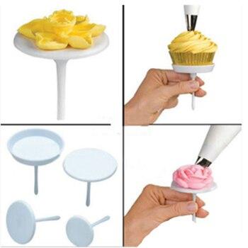 4 unids/set de soportes de pastel en forma de clavo Cupcake accesorios para pasteles para confitería postre decoración herramientas para hornear