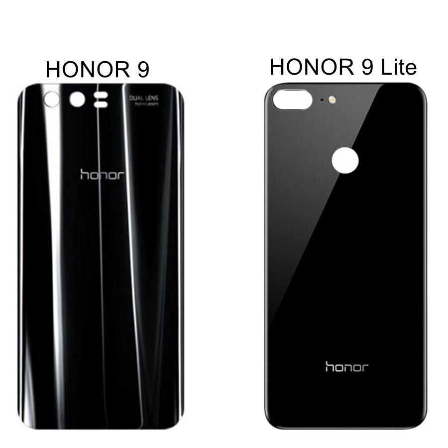 Задняя крышка для Huawei Honor 9 Lite, задняя крышка аккумулятора, корпус двери, Задняя стеклянная панель, Сменный Чехол для батареи Honor 9 Lite