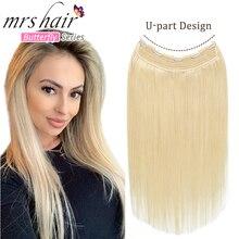 Mrshair U Teil Natürliche Erweiterung Haar Clip 100% Menschliches Haar Clip in Einem Stück Voller Kopf 160 Gramm 14 18 22 zoll Dick Volumen Haar
