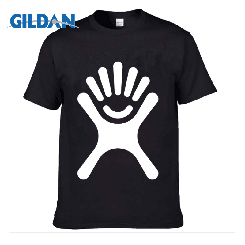 GILDAN Customized Men's T Shirt Print Hand Your Own Design High Quality Breathable Cotton T-Shirt For Men Plus Size XS-3XL