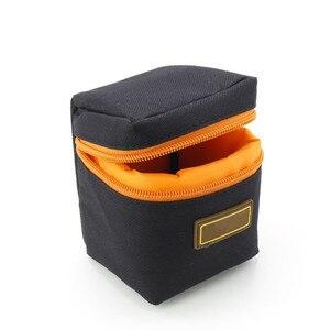 Image 4 - 1 pièces 7mm dépaisseur rembourré sac dobjectif de caméra antichoc Durable souple objectif de caméra pochette de protection sac étui pour objectif de caméra DSLR