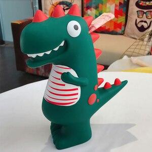 Милая Статуэтка динозавра, Копилка большая для бумажных денег, индивидуальный домашний декор, монетница, детские украшения, креативный под...