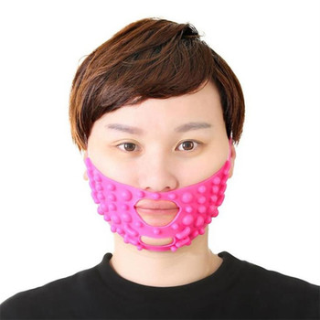Silicone Slimming V Shape Mask Face Massage Point Tightening Reduce Wrinkles Change Double Chin Mask Face Lifting Bandage 40#805 недорого