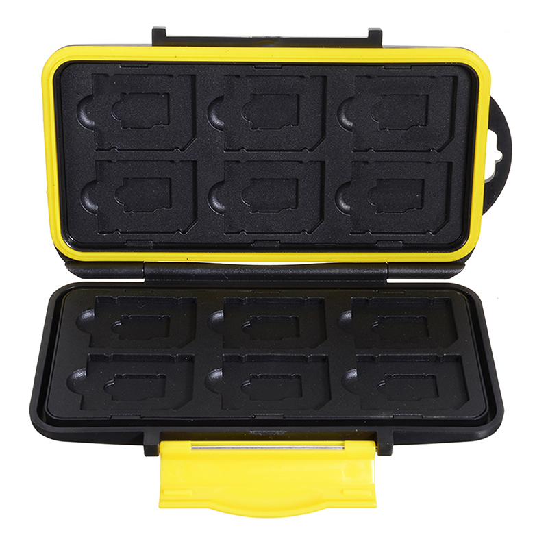 1PC Storing Case <font><b>Micro</b></font> <font><b>SD</b></font>/TF Cards Holder Portable <font><b>Storage</b></font> Box Card Protecting Placing Boxs Waterproof ABS 12 Slots image